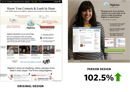 Sử dụng hình ảnh con người khi thiết kế website khách sạn